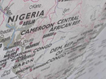 Nigeria and Cameroon Map