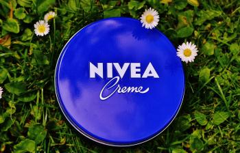 Nivea Creme Tub on Grass