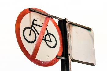 No Bicycles Allowed Signage