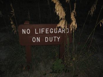 No lifeguard on duty!