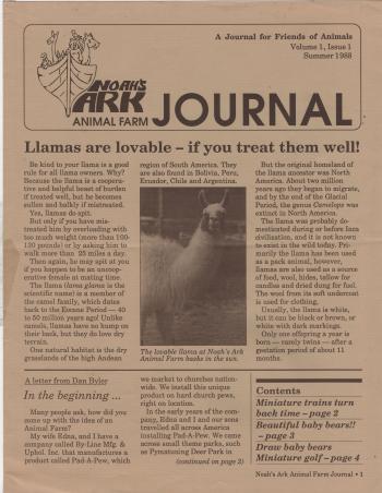 Noah's Ark Animal Farm Journal