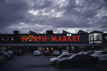 North Market Signage Building Under Gray Sky