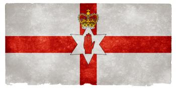 Northern Ireland Grunge Flag