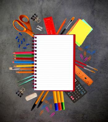 Notebook and school stationery supplies