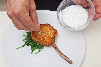 Nouvelle cuisine. Delicious plate ready