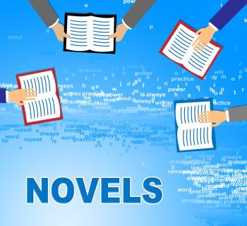 Novels Books Indicates Story Telling And Fiction