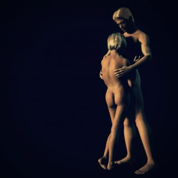 Nude Girl and Man - 3D Rendering
