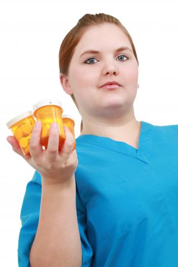 Nurse with medicine