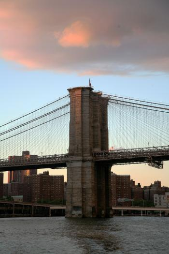 NY Bridge at Sunset