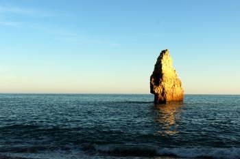 Ocean and rock outcrop