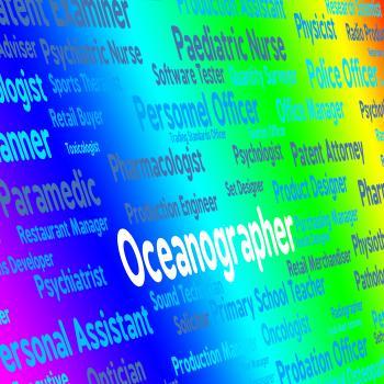 Oceanographer Job Represents Oceanographers Words And Maritime