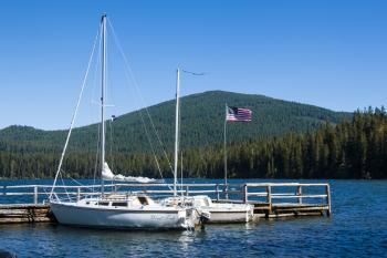 Odell Lake, Oregon, Boats at the Dock