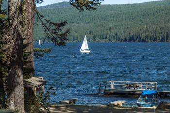Odell Lake, Oregon, Sailboat