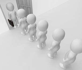 Office Characters Indicates Business Person And Employee 3d Rendering