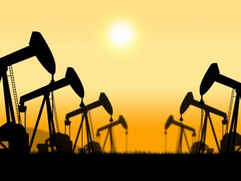 Oil Wells Represents Extract Refineries And Oilfield