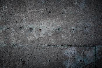Old Blue Concrete with Holes