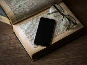 Old Book and Mobile