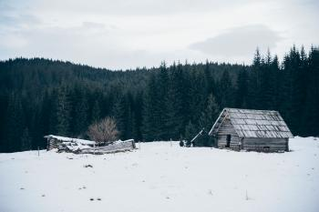 Old Cabin in Winter