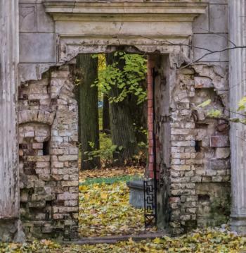 Old cemetery doors