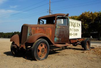 Old Chevrolet at Antique Shop