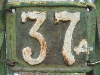 Old door number