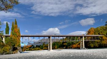Old Lower Shotover Bridge. Queenstown. NZ