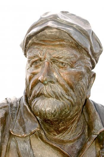 Old Man Sailor Captain in Bronze