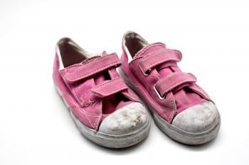 Old pink sneakers
