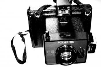 Old polaroid camera