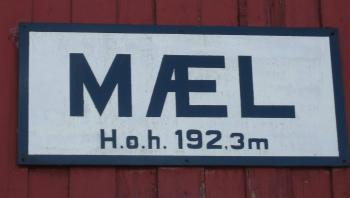 Old railroad sign