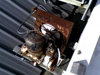 Old Rusty Compressor