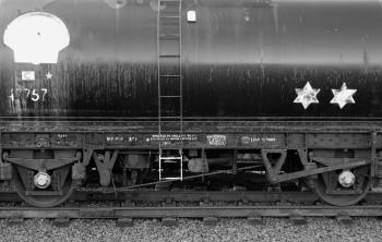 Old train oil tanker