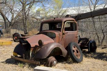 Old Truck on the Workshop