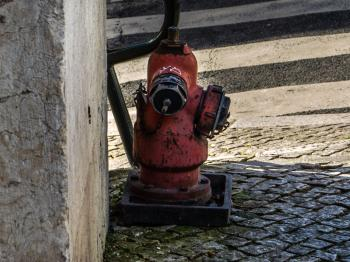 Old water hydrant