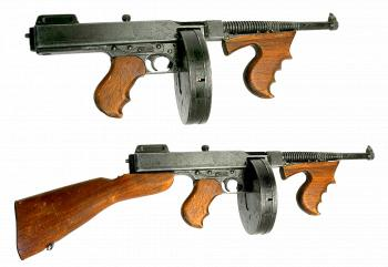 Old Wooden Tommy-guns