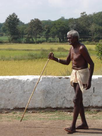 Oldman walking
