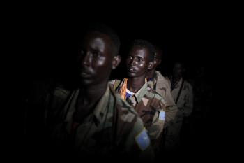 On night operations with the African Union Mission in Somalia 09