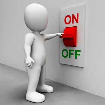 On Off Switch Shows Energy Supply