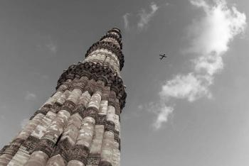 On the Sky, The Qutub Minar