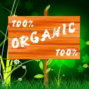 One Hundred Percent Means Organic Products And Completely