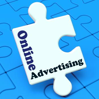 Online Advertising Shows Website Promotions Adverts