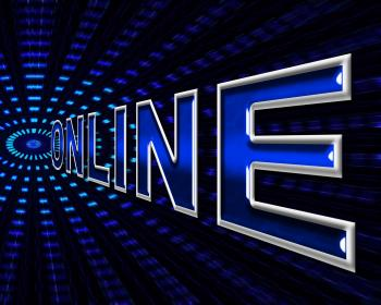 Online Internet Indicates World Wide Web And Data