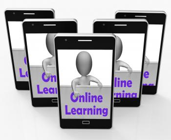Online Learning Sign Phone Means E-Learning And Internet Courses