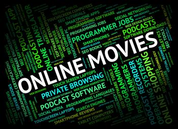 Online Movies Represents World Wide Web And Cinema