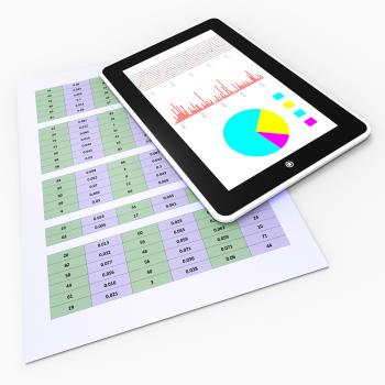 Online Reports Means Tablet Pc And Charting