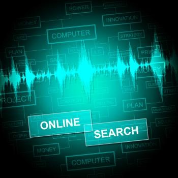 Online Search Shows Gathering Data And Web