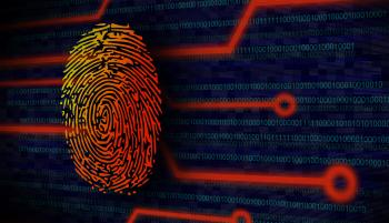Online Security Concept - Fingerprint