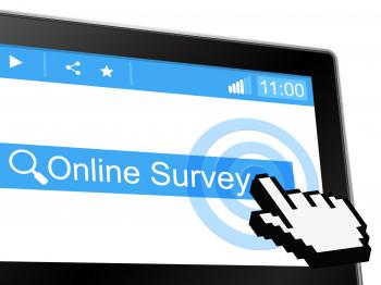Online Survey Means World Wide Web And Assessing