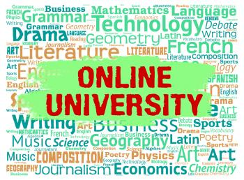 Online University Means Educational Establishment And Colleges