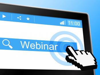 Online Webinar Shows Instruction Lesson And Net
